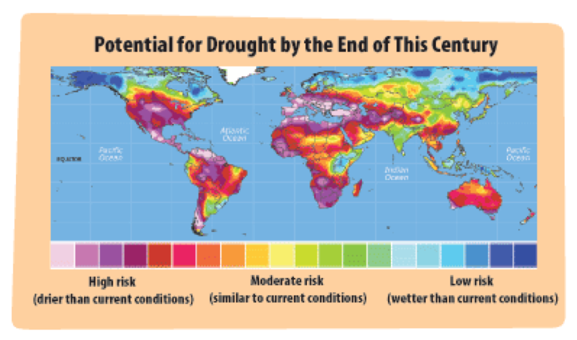 Global Drought Risk in 2100